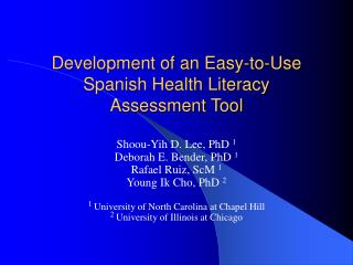 Development of an Easy-to-Use Spanish Health Literacy Assessment Tool