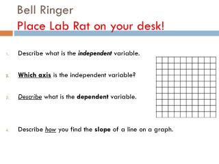 Bell Ringer Place Lab Rat on your desk!