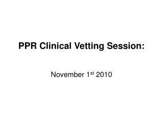 PERIPHERAL VASCULAR DISEASE Revision session