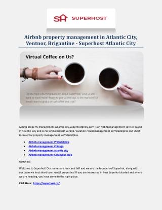 Airbnb management atlantic city