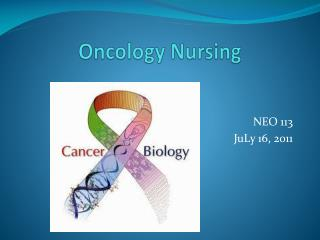 Oncology  Nursing