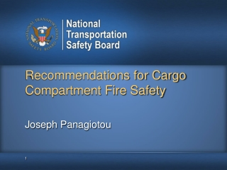 Recommendations for Cargo Compartment Fire Safety