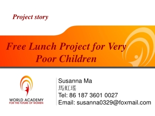 Feeding Poor Children: World Academy for the Future of Women
