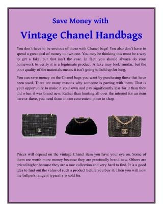 Save Money with Vintage Chanel Handbags
