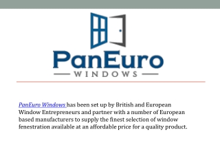 Get Modern Euro Windows in UK