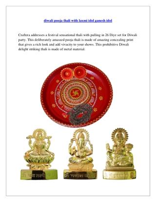 diwali pooja thali with laxmi idol ganesh idol