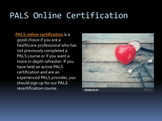 PALS Certification Online Training and Class