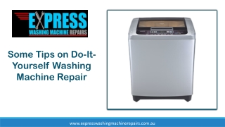Some Tips on Do-It-Yourself Washing Machine Repair