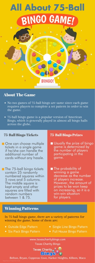 All About 75-Ball Bingo Game