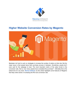 Higher Website Conversion Rates by Magento