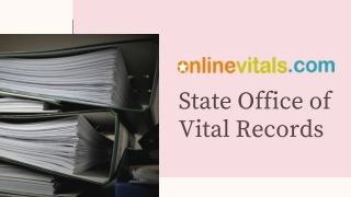 Vital Records Office Illinois - Online Vitals