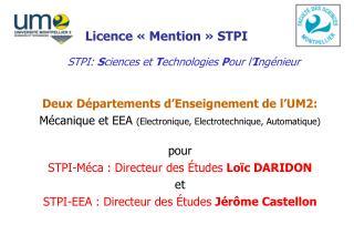 Licence « Mention » STPI