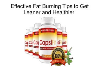 Effective Fat Burning Tips to Get Leaner and Healthier