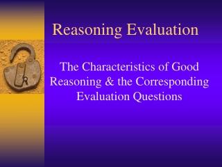 Reasoning Evaluation