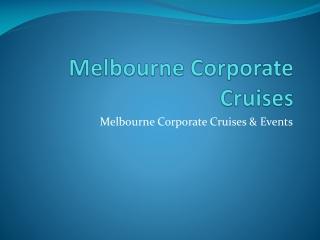 Melbourne Corporate Cruises - team building