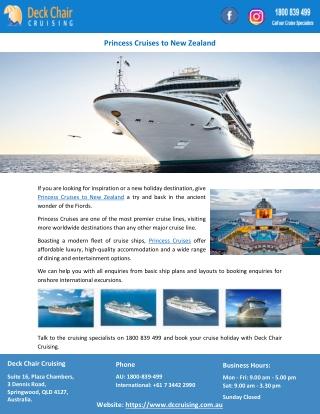 Princess Cruises to New Zealand