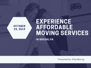 Experience Affordable Moving Services in Brooklyn