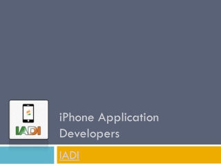 One of the best iPhone application developers in India