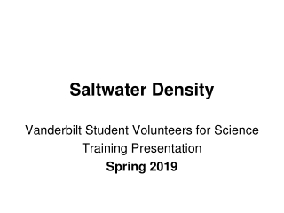 Saltwater Density