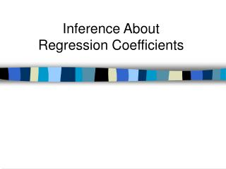 Inference About Regression Coefficients