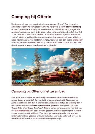 Camping bij Otterlo