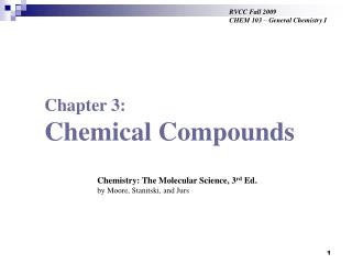 Chapter 3: Chemical Compounds