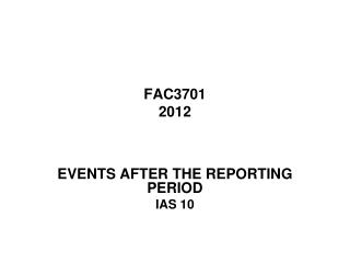 FAC3701 2012