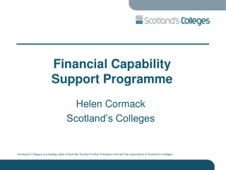 Financial Capability Support Programme