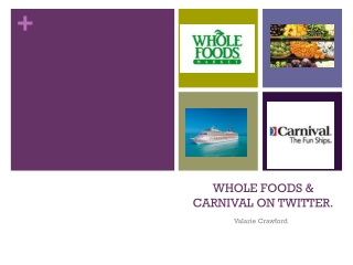 WHOLE FOODS & CARNIVAL ON TWITTER.