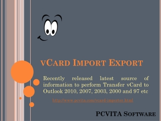Transfer vCard to Outlook
