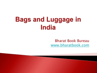 Bags and Luggage in India
