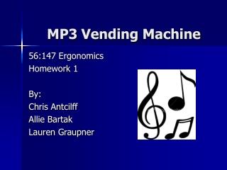 MP3 Vending Machine