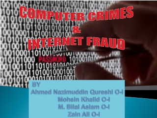 Computer Crimes & Internet Fraud