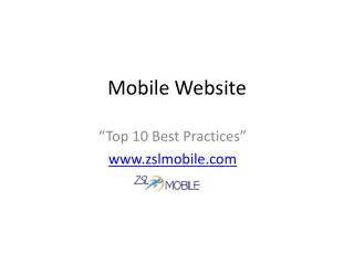 Top 10 Mobile Website Best Practices