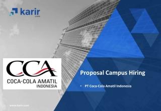 Proposal Campus Hiring PT Coca-Cola Amatil Indonesia
