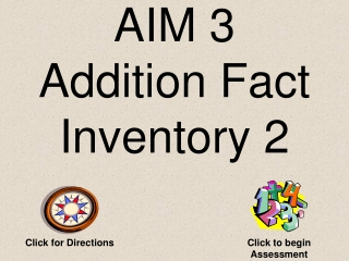 AIM 3 Addition Fact Inventory 1