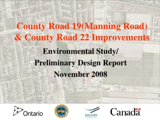 County Road 19(Manning Road) & County Road 22 Improvements