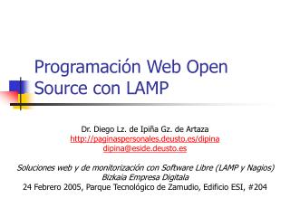 Programación Web Open Source con LAMP