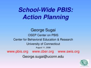 School-Wide PBIS: Action Planning