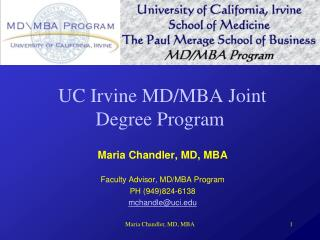 UC Irvine MD/MBA Joint Degree Program