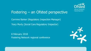 8 February 2018 Fostering Network regional conference