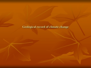 Geological record of climate change