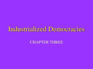 Industrialized Democracies