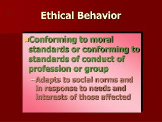 Ethical Behavior