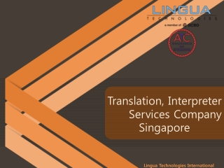 Translation services agency/company in singapore