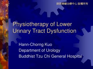 Physiotherapy of Lower Urinary Tract Dysfunction