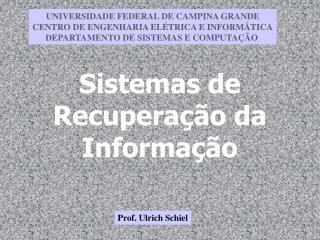 Sistemas de Recuperação da Informação