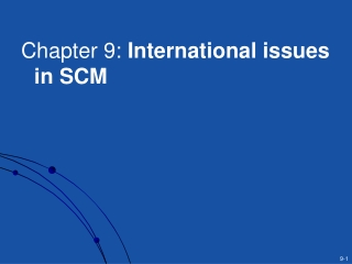 Chapter 9: International issues in SCM