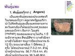 1.  Angora         mohair  1       6-12   1  2  2.7-3.2 .   56.7-79.4 .  36.3-46.8 .