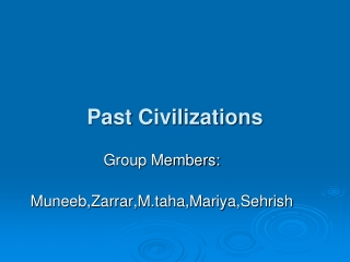 Past Civilizations